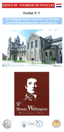 Forfait 3: De Collégiale Sainte Gertrude van Nivelles en de museum Wellington van Waterloo